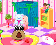 Baby Pou room decoration játék