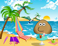 Pou at the beach online játék