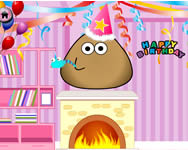 Pou birthday party online játék